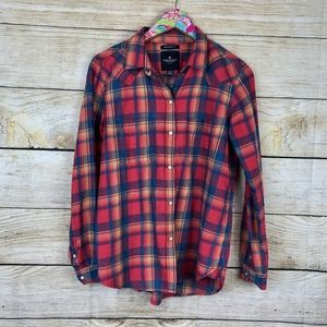 American Eagle flannel boyfriend fit shirt S